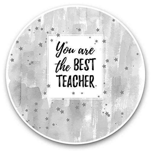 Vinyl Stickers (Set of 2) 15cm Black & White - Cute Best Teacher Kids School Laptop Luggage Tablet #41403