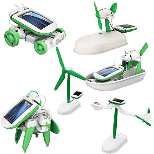 Mankoo Solar Roboter 6 in 1 Lernspielzeug 6 Verschiedene Modelle Solar Experiment für Jungen und Mädchen Kinderspielzeug Geschenk Selbstorganisiertes Solar Science Kit