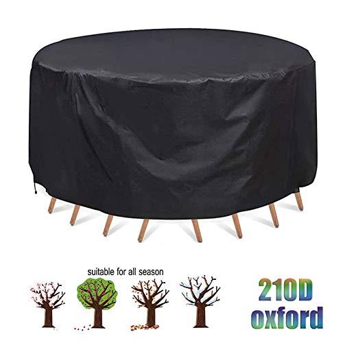 LWXTY Redondas Impermeable Funda Protectora para Muebles De Jardín Funda Muebles Exterior Anti-UV Funda para Muebles De Jardín,227x100cm/7x3ft