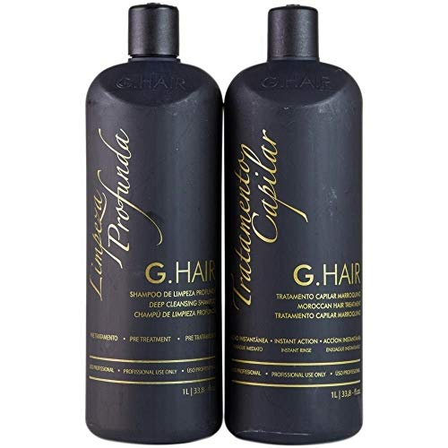 G.HAIR Moroccan Smoothing Treatment Kit (2 Steps) 33.8oz / 1L each