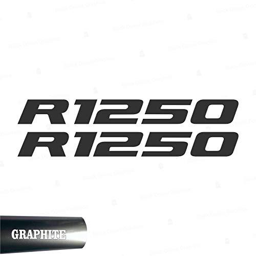 2pcs Adhesivo R1250 Compatible con Motorrad R1250 GS Adventure R 1250 HP 2019 (Antracita)