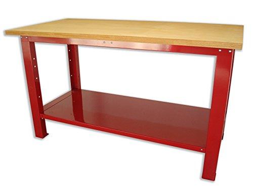 Banco da lavoro con piano in legno 1500x750x880 serie industria SOGI X3L-10