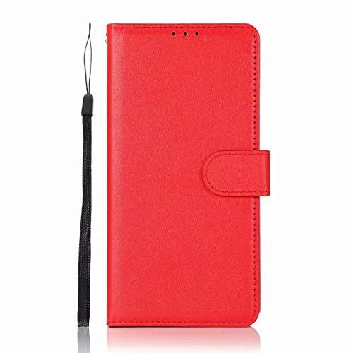 Funda para Samsung Galaxy S21 Ultra 5G, de piel sintética a prueba de golpes, con ranuras para tarjetas, función atril, magnética, protección completa, para Samsung Galaxy S21 Ultra 5G, color rojo