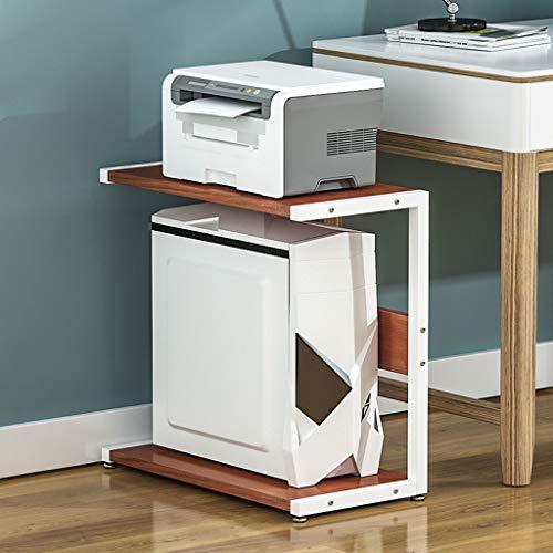 Carro de la Impresora Impresora Sencilla Estante Multi-Capa de Soporte de CPU de la Unidad Central del Ordenador En la estantería de Almacenamiento de Impresora Tabla hogar del Estante del Escritorio