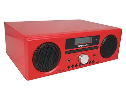 Roadstar HRA-9D+BT Microcadena Bluetooth, CD, USB, FM Radio, DAB+, AUX, Mando a Distancia, 240 W, Roja