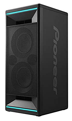 Pioneer Club 5 Bluetooth Party Speaker (Soundbox with LED light effects, Voice Control, USB for MP3 playback, for iPhone iOS and Android, App, 2 x 60 Watt RMS) black from Pioneer