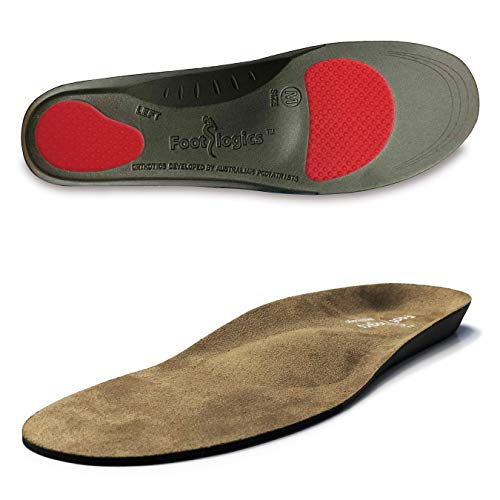 Footlogics Orthotic Shoe Insoles with Built-in Raise for Ball of Foot Pain, Morton's Neuroma, Flat Feet - Metatarsalgia, Pair (Full Length, S (Men's 6-7.5, Women's 7.5-9))