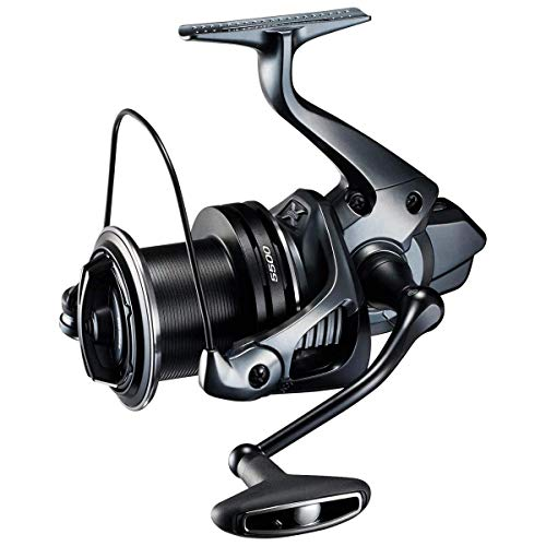 Photo of blue and black Shimano Ultegra Ci4 XTC surf cast spinning reel