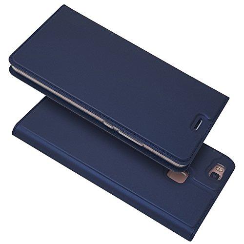 P9 Lite ケース 手帳型 huawei P9 Lite 手帳型 ケース huawei P9 Lite カバー 【iCoverCase】 内蔵マグネット スマホケース 携帯カバー カードポケット スタンド機能 軽量 超薄型 耐摩擦 【選べる4色】ブルー