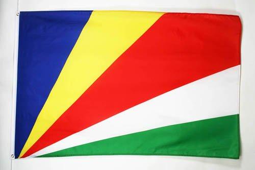 AZ FLAG Flagge Seychellen 90x60cm - Republik Seychellen Fahne 60 x 90 cm - flaggen Top Qualität