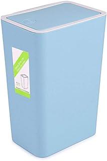 C-J-Xin Plastic Trash Can, Household 8L Kitchen Bedroom Living Room Bathroom Trash Can 22 * 15.5 * 33CM High Capacity (Col...
