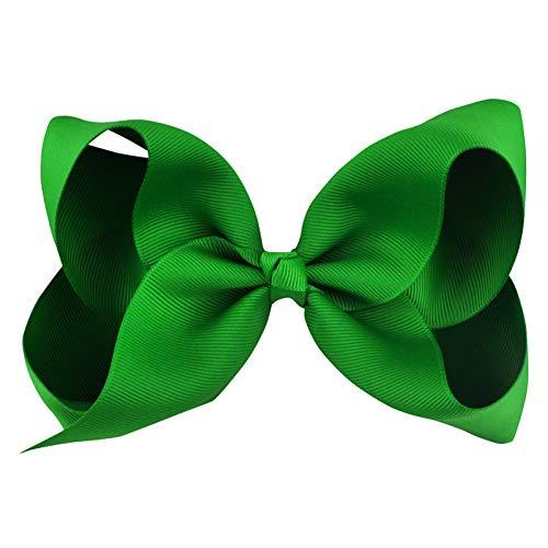 TOUSHI Accesorios Cabello Moda 6 Pulgadas Cute Boutique Grosgrain Ribbon Bows Horquillas para Niños Little Girl Bows Hair Clips Kids Headwear Accesorios para El Cabello
