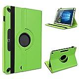 UC-Express Tablet Hülle kompatibel für LNMBBS Tab 10 Tasche Schutzhülle Cover Schutz Case 360° Drehbar Klapphülle, Farben:Grün