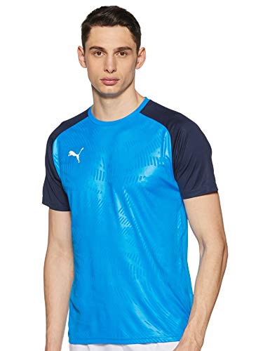 PUMA Herren Cup Training Jersey Core T-Shirt, Electric Blue Lemonade-Peacoat, 3XL