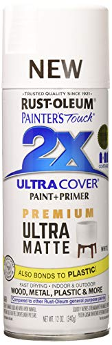 Rust-Oleum 331181 Painters Touch 2X Spray Paint, Matte White