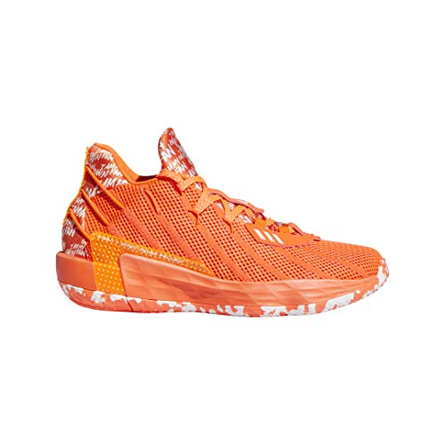 Adidas Dame 7 Solarred/White Basketball Shoes 9