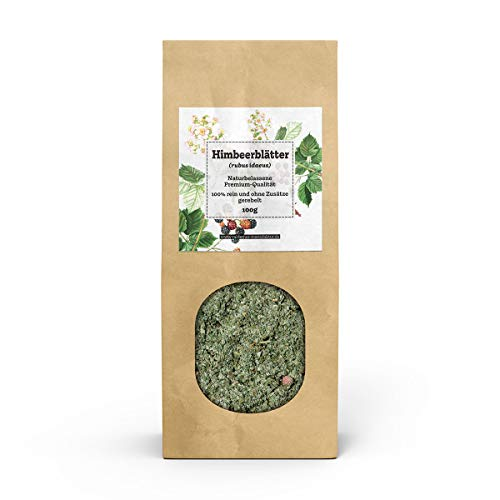 VALDEMAR MANUFAKTUR vervaardiging FRAMBOZENBLAD-THEE 100g (Rubus idaeus) - met de hand verpakt in Duitsland