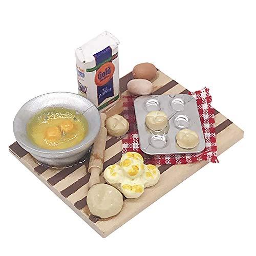 GZQ 1:12 Miniatura de Madera de Cocina,Cocina en Miniatura / Panadería Comida...