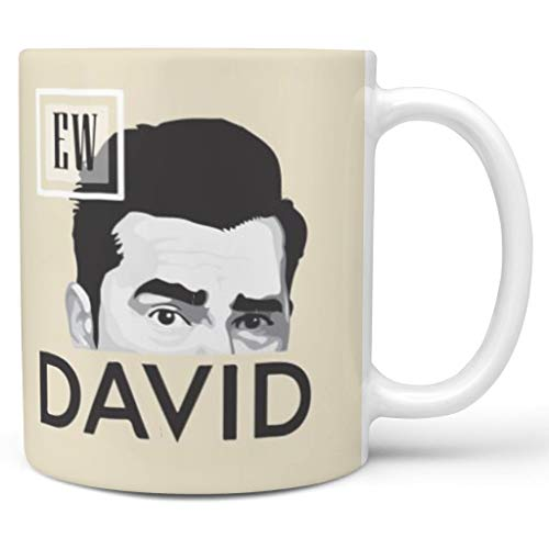 O5KFD & 8 11 ounce EW David water thee beker met handvat keramiek nieuwigheid mok - mannen hedendaags, pak voor thuis gebruiken