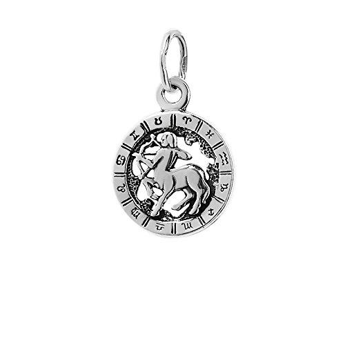 NKlaus Silber 925er Sterlingsilber Ketten Anhänger Horoskop Sternzeichen Schütze 6325