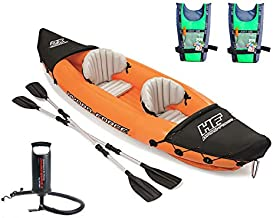 Flydem Inflatable Kayak,Set with Aluminum Oars and High Output Air Pump,2-Person…