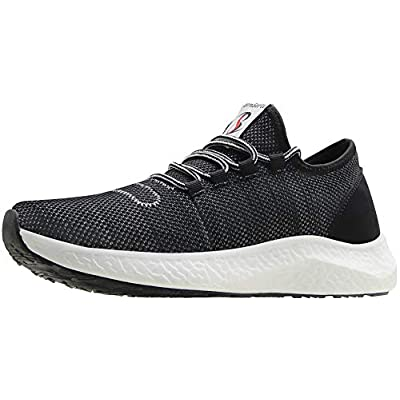 BenSorts Men's Tennis Shoes Comfortable Walking Shoes Gym Lightweight Sneakers for Workout