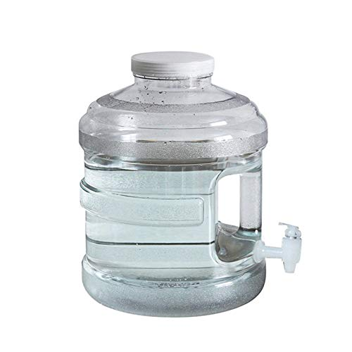 Misis Contenedor de Agua con Grifo PC portátil de Grado alimenticio Cubo de Agua Potable para el hogar Cubo de plástico de Boca Grande Contenedor de Agua para recorridos al Aire Libre sin Safety