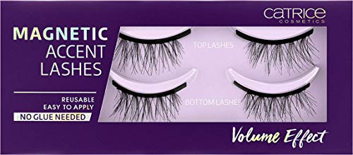 Catrice Magnetic Accent Lashes, Nr. 010 LashGangVolume, schwarz, volumengebend, Expressergebnis, sofortiges Ergebnis, intensiv, vegan, Nanopartikel frei, ohne Parfüm (2 Paar)