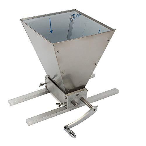 BTdahong Molino de Granos Ajustable, Molino de Malta, Molino Manual de Cerveza, Trituradora de Grano de Altura 260 mm