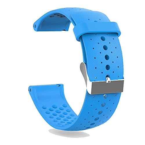 KINOEHOO Correas para relojes Compatible con Polar Vantage M Pulseras de repuesto.Correas para relojesde silicona.(azul)