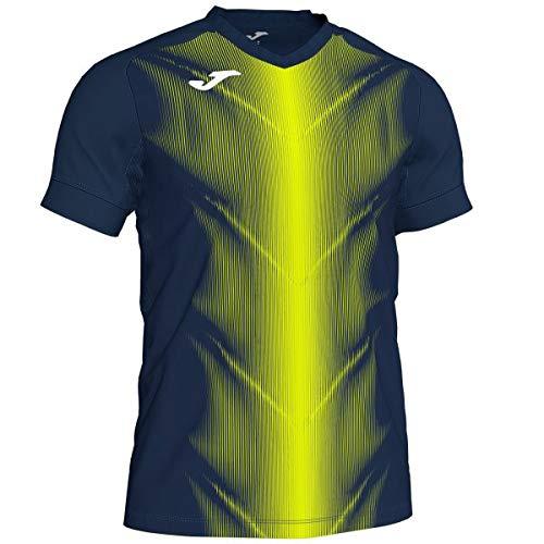 Joma Olimpia T-Shirt pour Homme, Bleu Marine/Jaune Fluo, 2XL