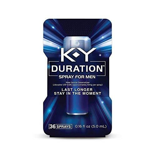 Duration Spray for Men, K-Y - Male Genital Desensitizer Spray to last longer, 0.16 fl Oz., 36 Sprays/0.16 Made With Delay Lube for Men To Help Men Last Longer In Bed