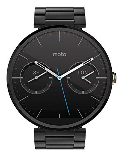 Motorola Moto 360 Metal Edition Dark-Finish Smartwatch (Metal Band, 23 mm)