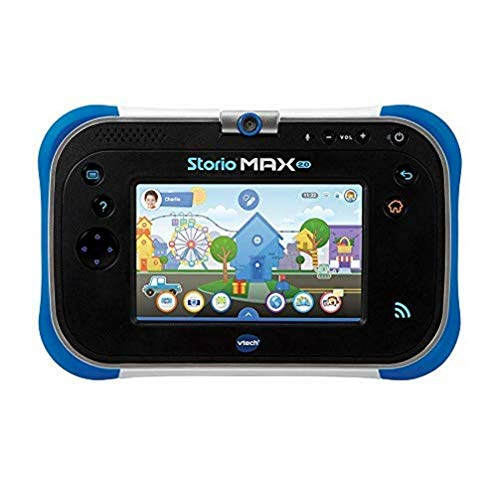 VTech - Storio Max 2.0 bleue - Tablette pour Enfant 3 ans à 11 ans - Ecran Tactile 5 pouces – Version FR