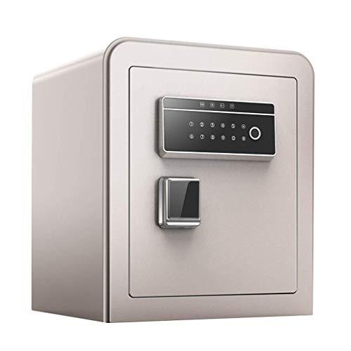 H-CAR Caja fuerte ignífuga con patas de teclado digital, caja de seguridad pequeña de metal para el hogar, pistola de seguridad, dinero, joyas, contraseña, mesa de noche (color: B)