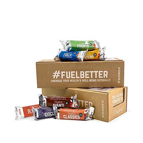 Veloforte Mixed Energy Bars - 100% Natural Healthy Sports Performance,...