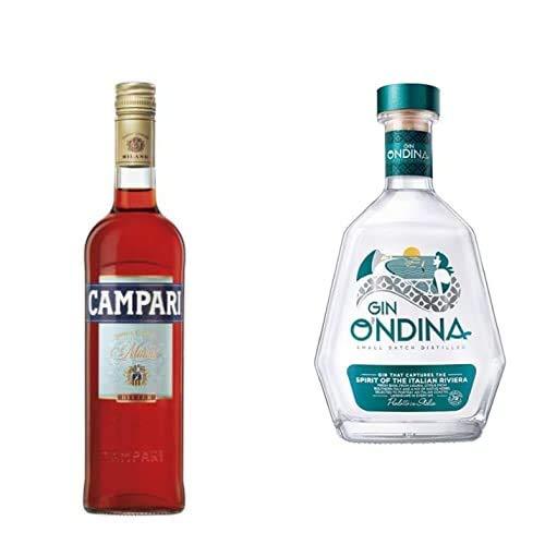 Campari Bitter, 70cl with O'ndina Small Batch Distilled Super Premium Italian Gin, 70 cl