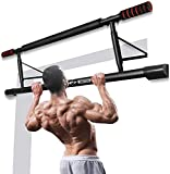 Chriffer Multi-Gym Doorway Pull Up Bar Fitness, Portable Chin Up Bar Gym System with Smart Hook Technology