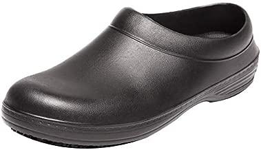 Men and Women's Oil Water Resistant Nursing Chef Shoes Non-Slip Safety Working Shoes for Kitchen Garden Bathroom (9.5 Men / 10.5 Women / 10.43″,43 Black)