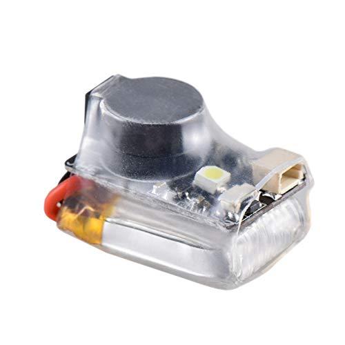Huante JHE42B El timbre del investigador 110DB Decibel Auto Alarma la alta luminosidad, luz LED con el buscador de batería para FPV Racing Drone Contrran de vuelo