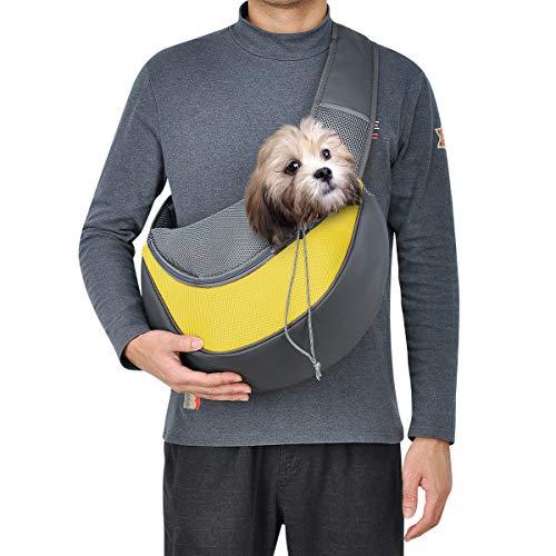 Top Star, borsa per cani di piccola taglia e per cani e gatti, portatile, per una rete traspirante, per viaggi a mano, per cani e gatti (grande, giallo)