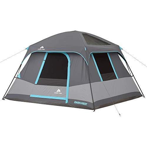 Ozark Trail 10' x 9' Dark Rest Frp Cabin Tent, Sleeps 6