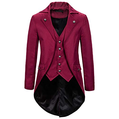 Why Should You Buy Eimvano Mens Gothic Medieval Tailcoat Jacket, Steampunk Vintage Victorian Frock H...