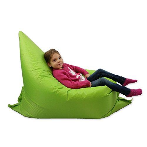 MaxiBean Kids Beanbag 6 way Large Garden Lounger Childrens Bean Bag Outdoor Water Resistant Floor Cushion Lime