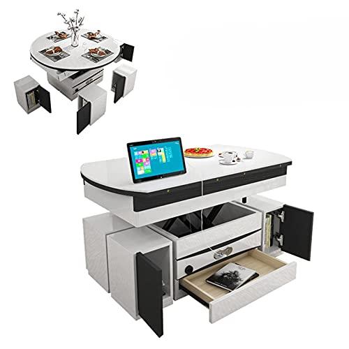 Mesa de centro multifuncional Plegable Mesa de comedor grande / elevación eléctrica...