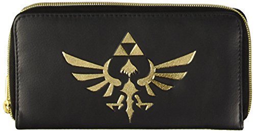 Legend of Zelda Triforce Ladies Logo Zip Alrededor de Carter