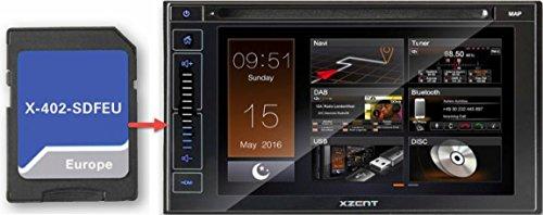 'XZENT x-402-sdfeu Bluetooth Black Car Media Receiver–Car Media Receivers (DAB +, FM, 15.8cm (6.2), 16: 9, TFT, Rear, Black)
