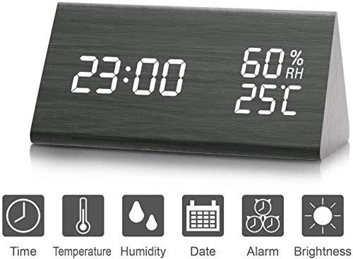 Despertador, Higrómetro, Termómetro Digital, Brillo de 3