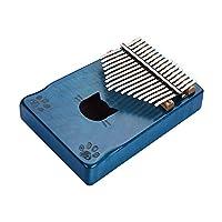 Negaor WK-171BLポータブル17キーカリンバ親指ピアノムビラカエデ材キャリーバッグチューニングハンマークリーニング布ステッカーミュージカルギフト