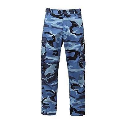 Rothco Camo Tactical BDU (Battle Dress Uniform) Military Cargo Pants, Sky Blue Camo, S